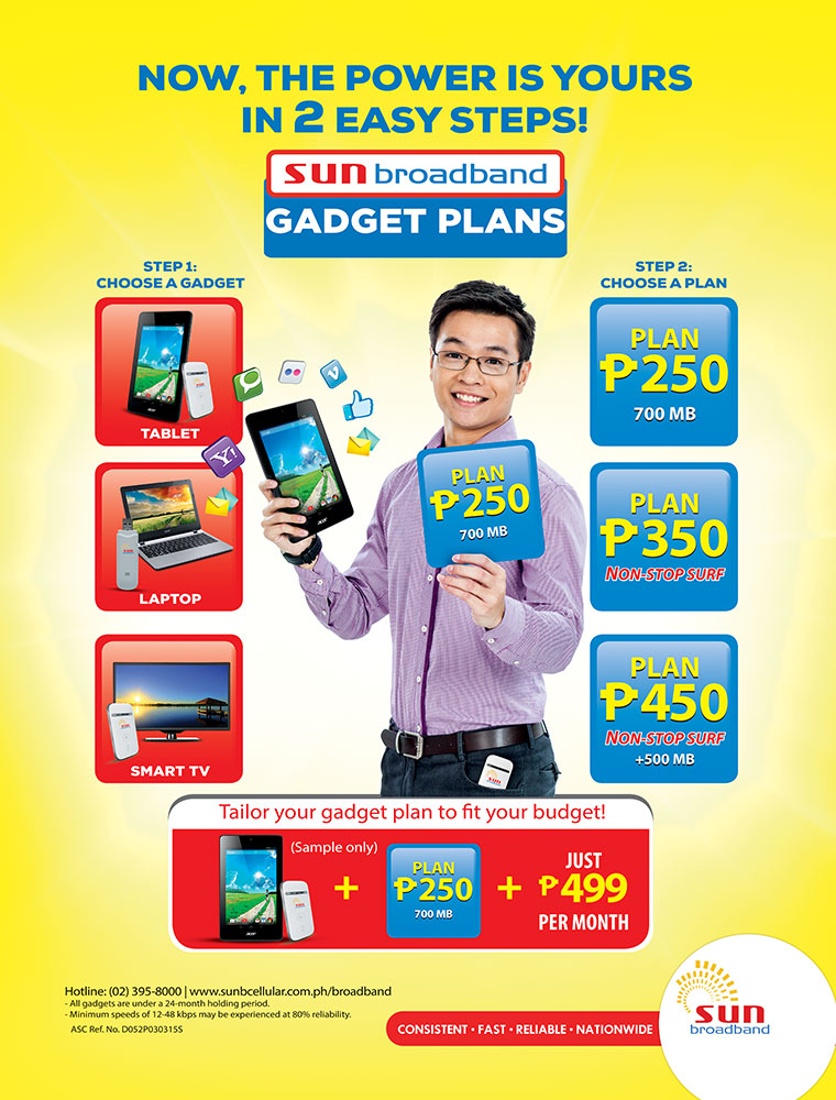 attractive www sun plan #5: Sun Broadband subscribers enjoy the power of choice with the revitalized  gadget plans - Best Lifestyle Blog in Manila