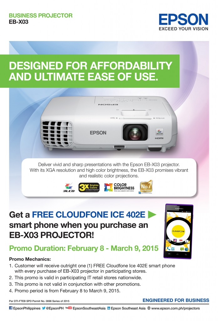 EPSON launches free cloudfone projector promo - ElifestyleManila com
